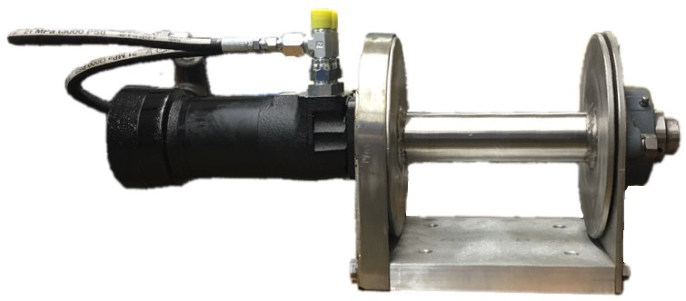 Single Drum Hydraulic Winch (8