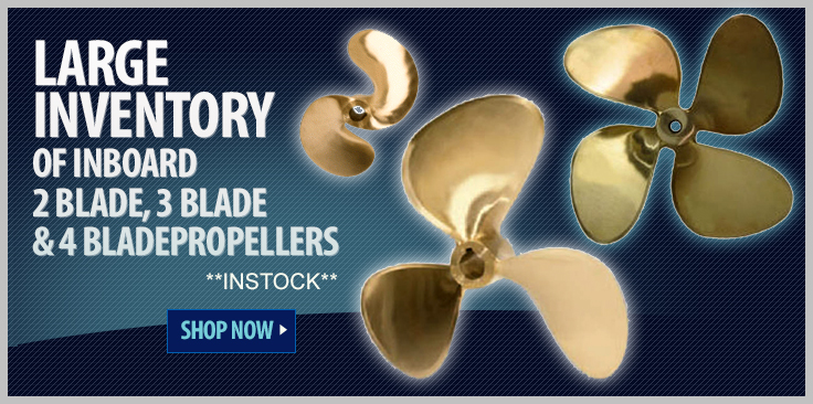 Large Inventory of Inboard Propellers